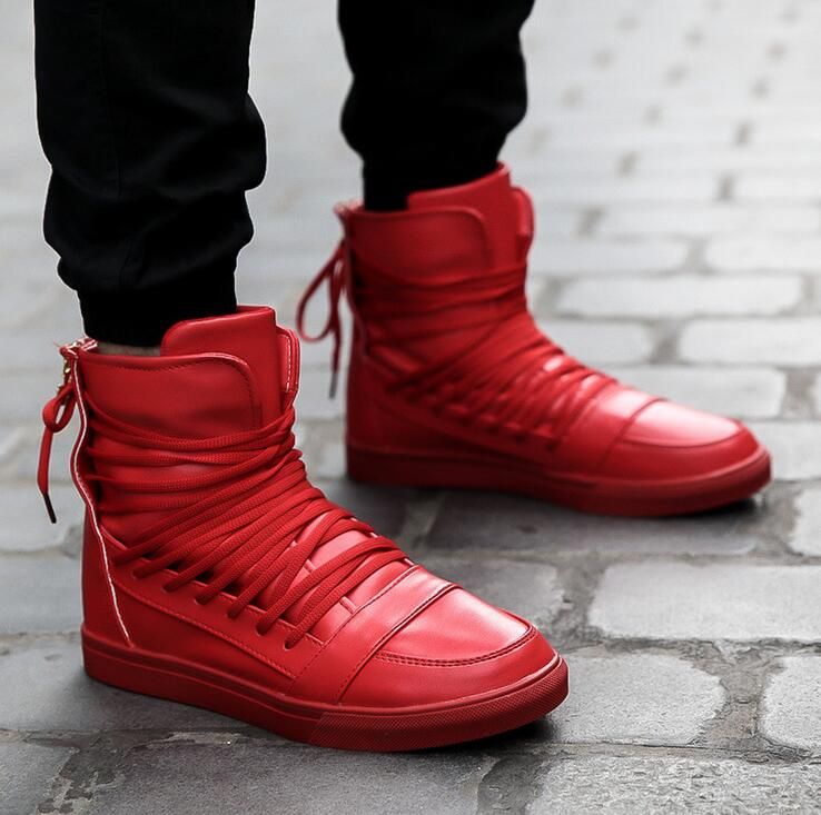 Online Buy Wholesale breathable zapatos hombre red boots men from ...