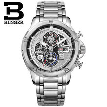 2015 Hot Watches Men Top Brand Binger Luxury Wristwatches Stainless Steel Casual Watch Relogio Masculino Fashion Hours Clock