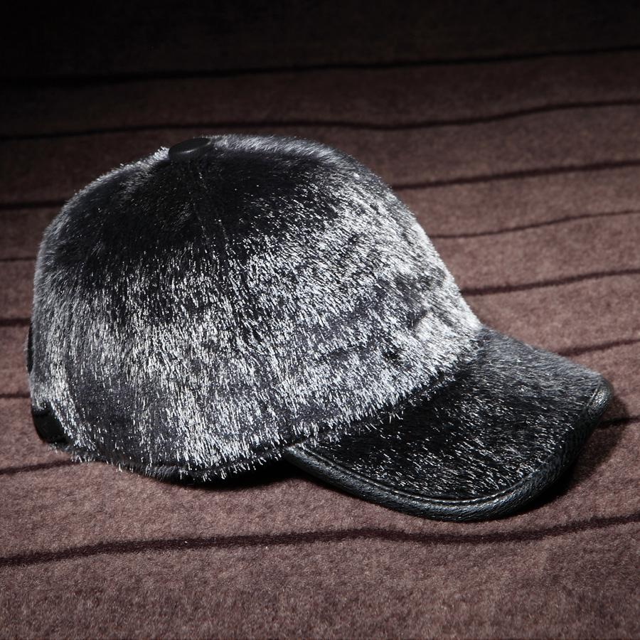 EASTERN FUR Genuine leather mink hair hat male cap baseball cap winter warm hat ear belt(China (Mainland))