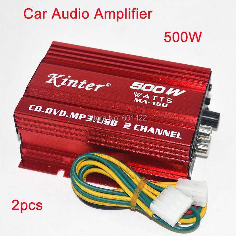 2pcs Hot Sale car audio amplifier 500W 2 Channel Mini Hi-Fi Stereo Audio Amplifier Amp Car Motorcycle Amplificador-Red<br><br>Aliexpress