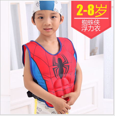 life vest life jacket for 2-8years child safety fishing water survival in swimwear Superman Spider-man Batman Buoyancy Clothing(China (Mainland))