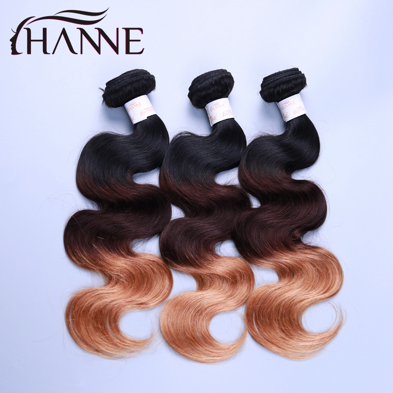 Hanne Hair Products Ombre Peruvian Hair Body Wave Two Tone Ombre Human Hair Extensions 3pcs Peruvian Virgin Hair Ombre Body Wave<br><br>Aliexpress