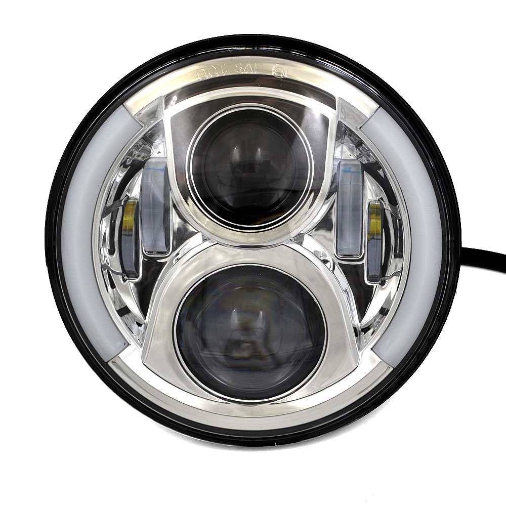 Jeep Jk Led Headlights Inch Motorcycle LED DRL Projector Headlights With Angel Light ...