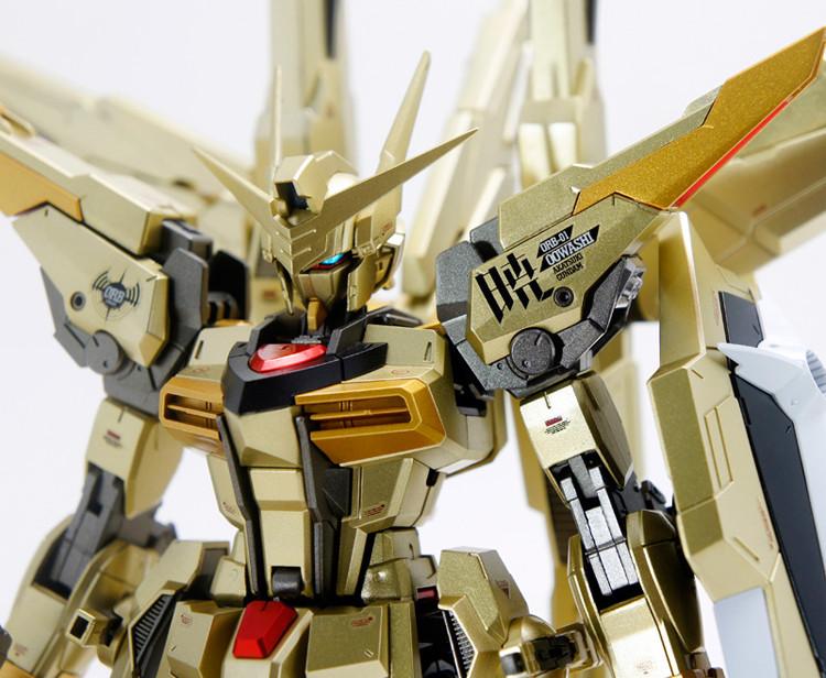 Гаджет  Dragon Momoko Gundam Model MG 1/100 Akatsuki Double Weapons Golden Plated Action Figure Assemble Toys Gift None Игрушки и Хобби