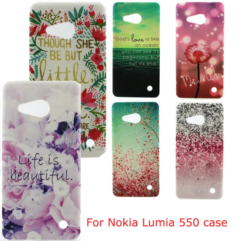For Microsoft Lumia 550 Case Silicon Gel Tpu Transparent Clear Back Shell Skin Mobile Phone Bag 550 Smartphone Accessories Funda(China (Mainland))