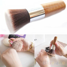 Flat Top Buffer Foundation Powder Brush Cosmetic Makeup Basic Tool Wooden Handle  08FU