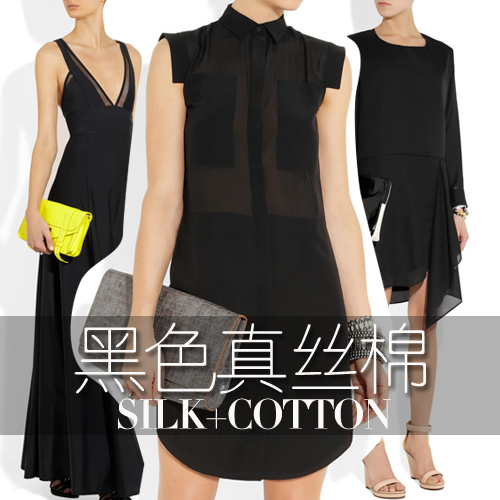 Cheap Black Silk Cotton Fabric For DIY Summer Cloth/Lining 135CM*100CM(China (Mainland))