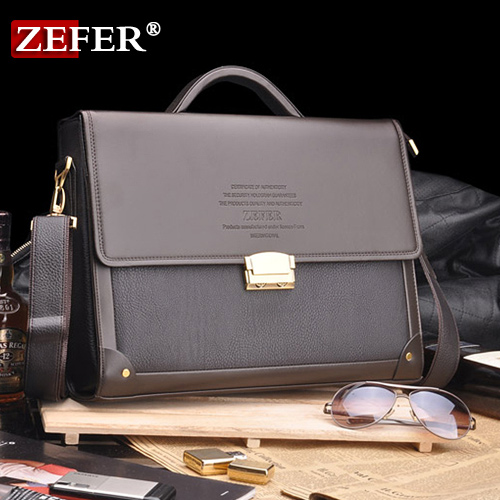 Фотография New Arrival Zefer male business bag briefcase man bag shoulder bag lock laptop bag az032-16