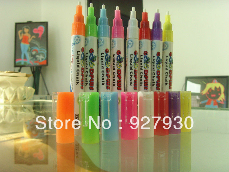 Free shipping Wholesale POP LED board Marker pen eraserble fluorescent marker for wine glass(China (Mainland))