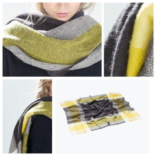 1 шт. желтый мужская женщины мужчины зимой теплое одеяло негабаритных тартан шарф большой обернуть платок плед уютные проверено пашмины украл