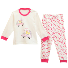 Happy Cherry Infant Boys Girls Cartoon Tops + Pants Sleepwear Cotton Underwear Coat(China (Mainland))