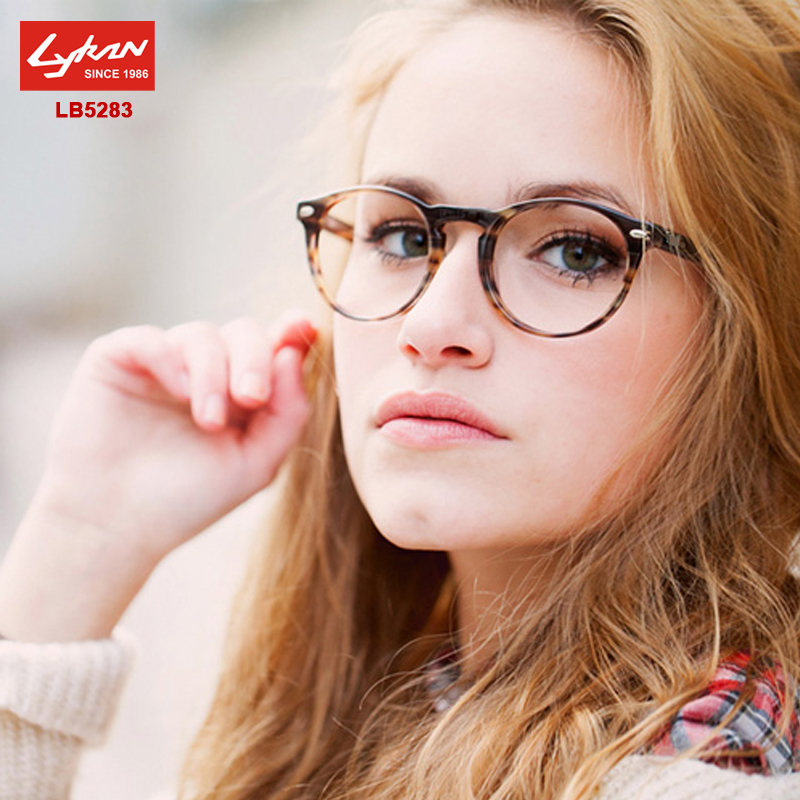 vintage round eyeglasses frames men women lb 5283 acetate frame original brand logo prescription glasses optical