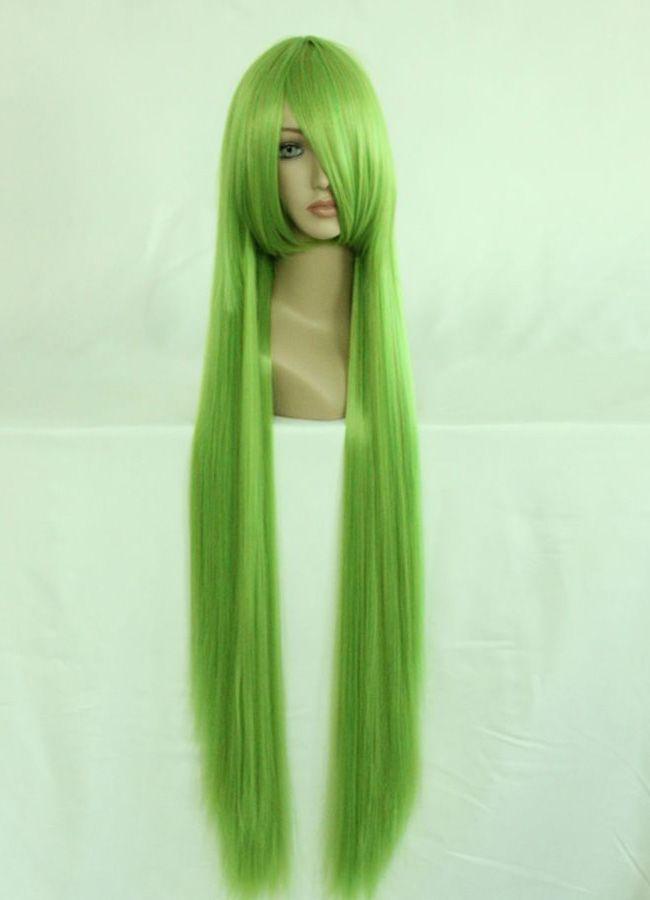 100cm Long Touhou Project-Kagiyama Hina Green Cosplay Costume Wig<br><br>Aliexpress