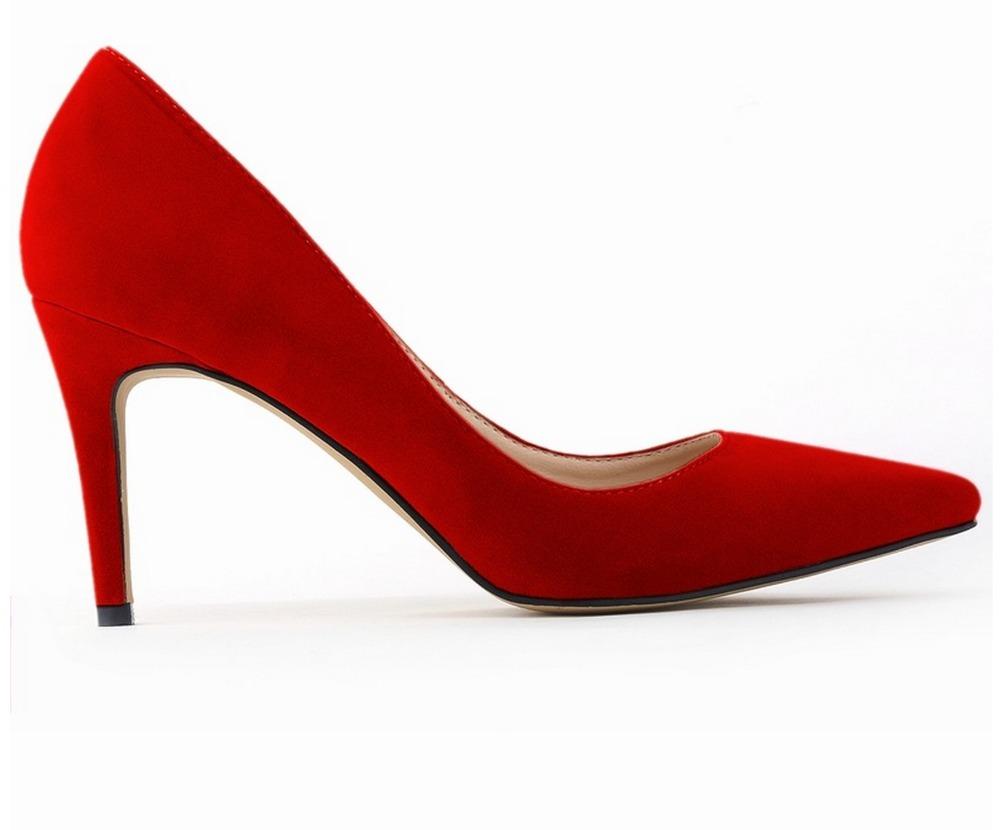 Red Pumps Low Heel - Is Heel