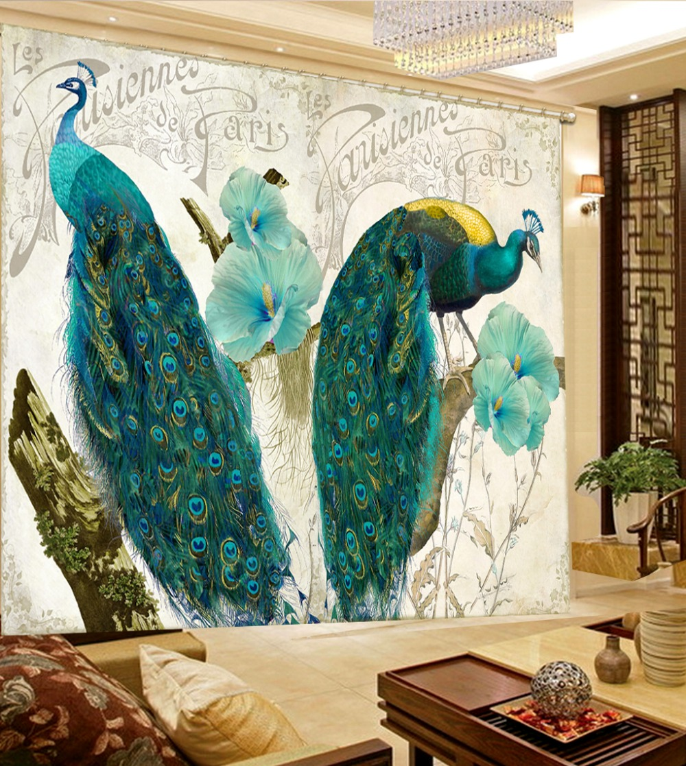 Peacock curtains