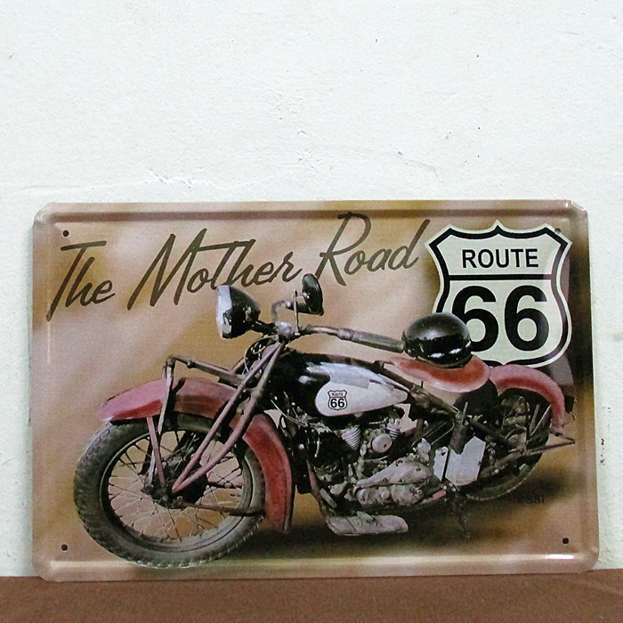 The mother road tin Signs Gift PUB Wall art Painting Poster Bar Decor E-49 Mix order 20*30 CM(China (Mainland))