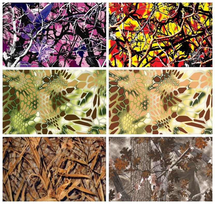 A4 size pva water transfer printing kit No. LYH-FS03 Hot sale camo film 10 pieces sample test hydrographics(China (Mainland))