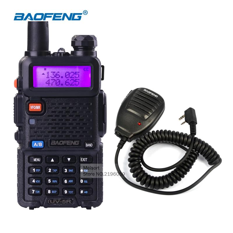 Portable Walkie Talkie Baofeng UV5R Dual Band VHF UHF Handheld uv-5r Radio Communicator Long Range Walky Talky HF Transceiver(China (Mainland))