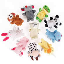 Animal finger doll toys children storytelling dedicated to appease family members cloth doll early childhood educational(China (Mainland))