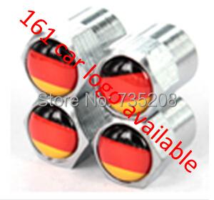 4 шт. мини хром шины колесные диски стебли воздуха колпачки шин крышка для германия флаг логотип