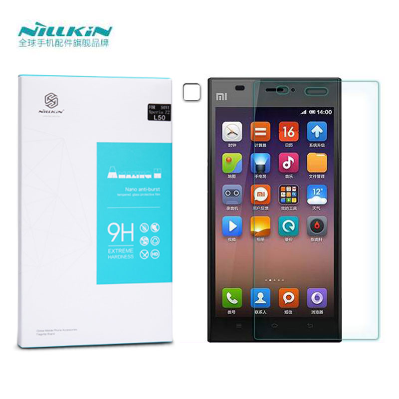 Гаджет  Free Shipping Nillkin Amazing H+ Anti-Explosion Tempered Glass Screen Protector Film For Xiaomi M3 Mi3 None Телефоны и Телекоммуникации
