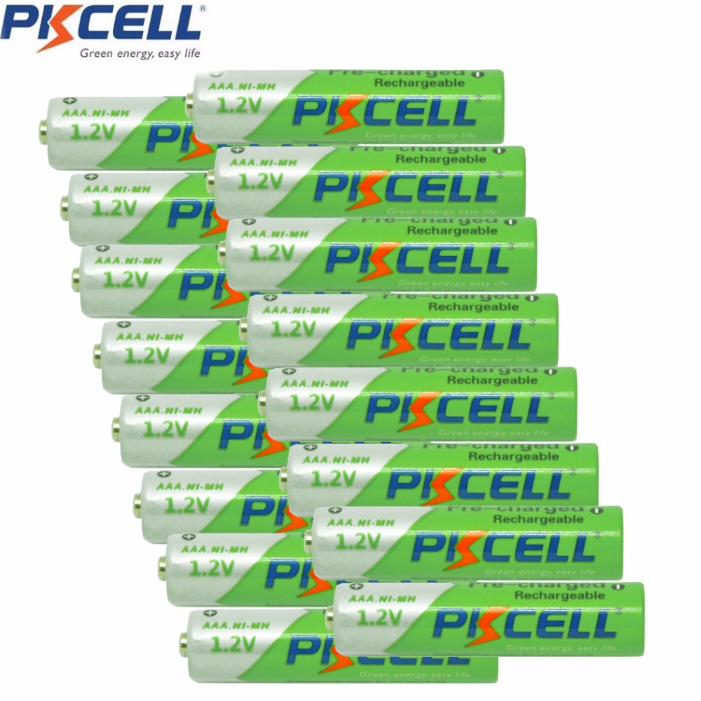 16Pieces*PKCELL Cycles1000times Pre-charged NIMH 1.2V 850mAh AAA Rechargeable Battery(China (Mainland))