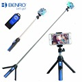Benro Mefoto Bluetooth Monopod Selfie Stick with Rear Mirror Mini Tripod Self portrait for iPhone Smartphones