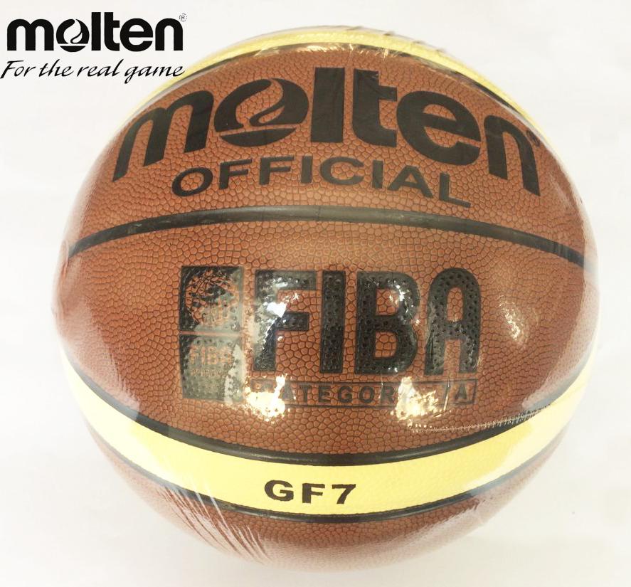 Original Molten Basketball Ball GF7 Brand New High Quality Molten PU Material Official Size7 Basketball Free Pin + Net Bag(China (Mainland))