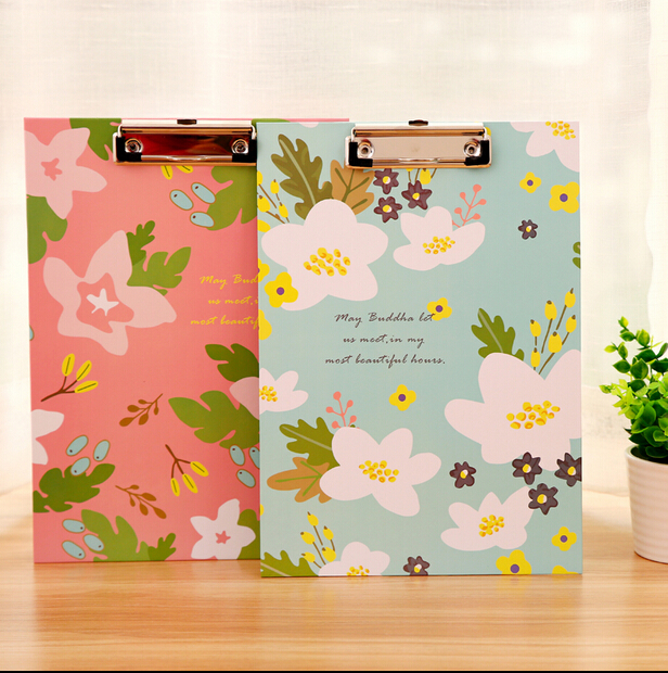 Cardboard Report File A4 Size Fresh Style Korea Stationery Filing Products 22*32cm(China (Mainland))