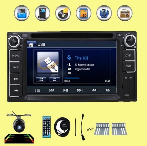 2015 New ! 2din Car DVD GPS for Toyota Hilux VIOS Camry Corolla Prado RAV4 Prado 2003 2004 2005 2006 2007 2008 Reverse camera(China (Mainland))