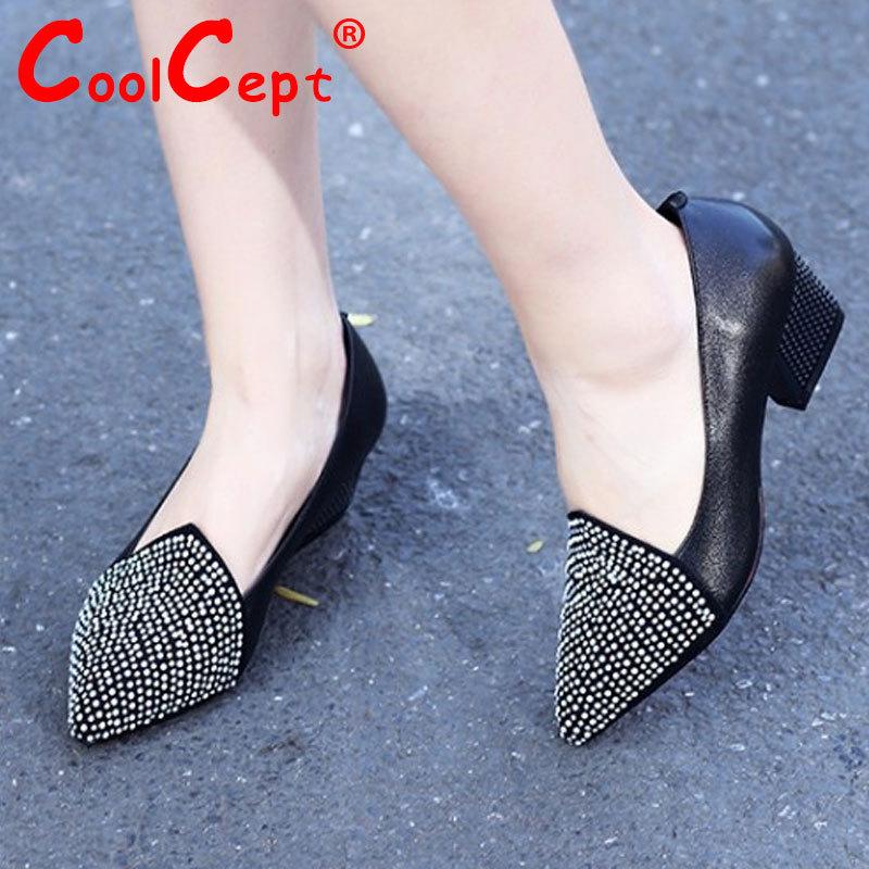 women real genuine leather stiletto pointed toe high heel shoes brand sexy fashion pumps ladies heeled shoes size 34-39 R5952<br><br>Aliexpress
