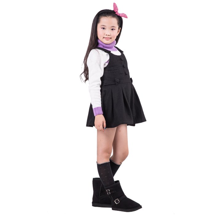 2015 spring and autumn new style baby girls fashion dress little girls solid color a line dress YGL30025(China (Mainland))