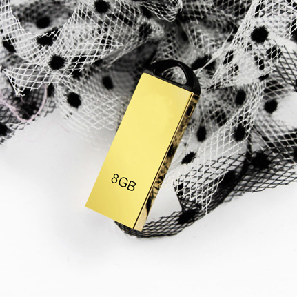 Real Capacity Gold High USB Flash Drive 64GB Metal Waterproof pen drives flash card 8GB 16GB 32GB Car Key Memory Stick U disk(China (Mainland))