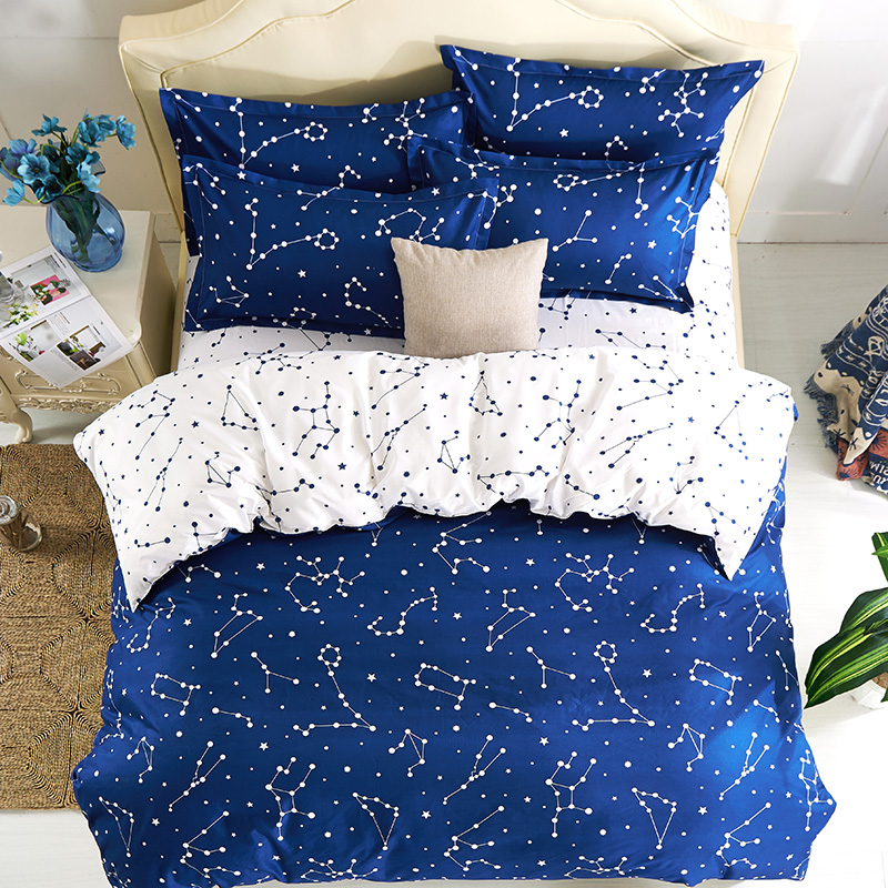 Hipster galaxy beddig sets universe outer space themed for Outer space quilt