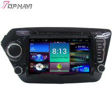 """Top 8"""" Quad Core Android 4.4.4 Car Dvd GPS For KIA K2 With 16GB Flash Mirror Link Stereo Radio Audio Map Free Shipping"""