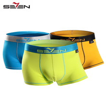 Buy Seven7 Brand Men Fashion Underwear Boxers 3 PcsPack High Elastic Sexy Casual Boxers Men Active Shorts Pants 110F08040 for $17.50 in AliExpress store