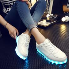 Led Luminous Shoes 2016 Casual Shoes Led Shoes For Women & Men Fashion Adult LED Lights Up USB Charging Shoe