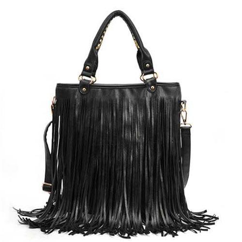 Tassel Fringe Bag 2015 Summer Style Women Leather Fashion Handbag Punk Rock Woman Shoulder Bags(China (Mainland))