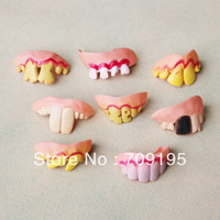 DHL EMS free shipping novelty items halloween props wholesale funny teeth,prank denture sets,April Fool's Day toys,500pcs/lot