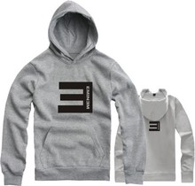 For Children Size 90/100/110/120/130/140/150cm eminem printed hoodies E letter printed sweatshirts(China (Mainland))