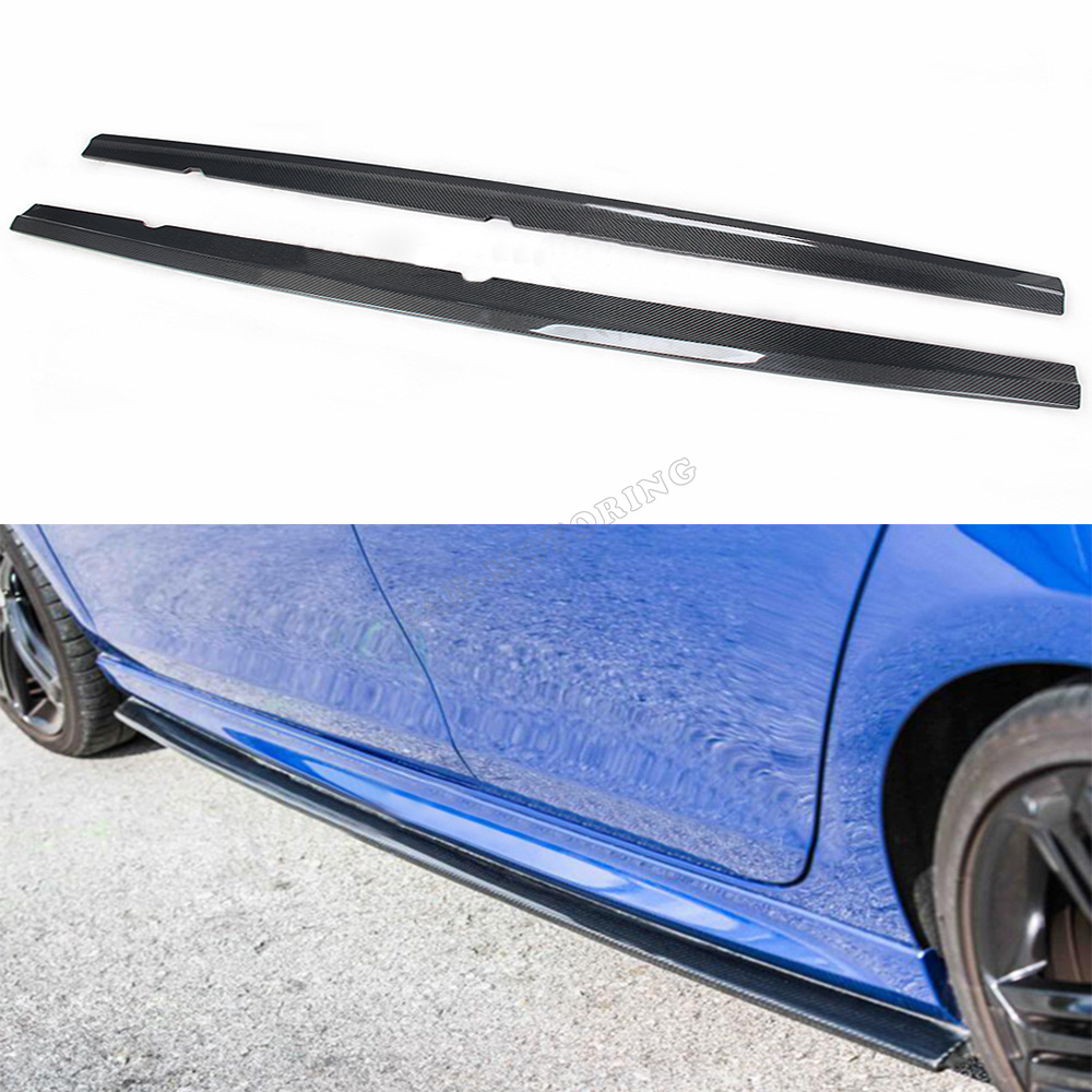 New Design MK6 E Style R20 Auto Car Double Carbon Fiber Side Skirts For VW Golf6 Golf VI (Fit For Golf VI MK6 R20 Bumper Only)<br><br>Aliexpress