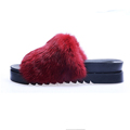 Real Rabbit Fur Slippers Casual creepers Shoes Women s Sandals Sandalia Feminina creepers shoes Female Home