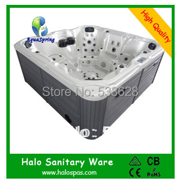 2802 Wholesale massage bathtub / outdoor spas 7 seats for party(China (Mainland))