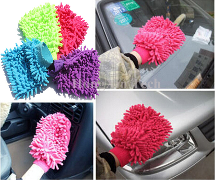 car cleaning products Superfine fiber car wash mitt cleaning glove towel household dry car clean washer gloves 1 pcs(China (Mainland))