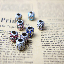Free Shipping 1pc Alloy bead Leaves charms with Crystal Charm Beads Fit Pandora Bracelets Bangles Jewelry