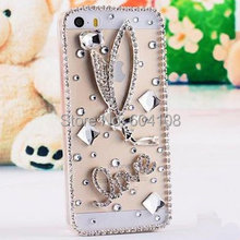 DIY Cute 3D Handmade Luxury Bling Crystal Diamond Hard Case Cover for iPhone6 4.7″ iPhone6 Plus 5.5″, Free Shipping