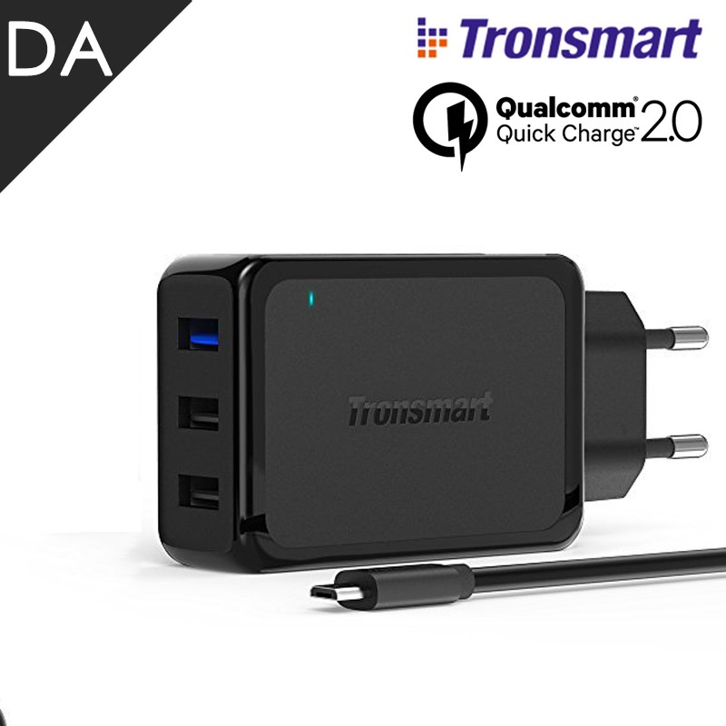 Qualcomm Certified Tronsmart Quick Charge 2.0 VoltIQ QC2.0 Turbo Charger For Samsung HTC Sony Nexus USB charger 3 port EU plug(China (Mainland))