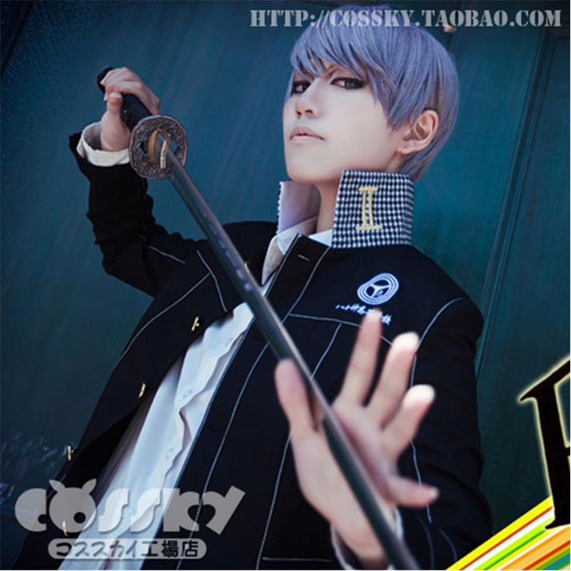 Фотография Shin Megami Tensei : Persona 4 P4 Yu Narukami Cosplay Costume Anime COS School JK Uniform Unisex Boys Girls Costumes