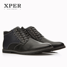 XPER Brand Autumn Winter Men Shoes Boots Casual Fashion High-Cut Lace-up Warm Hombre #YM86901BU(China (Mainland))