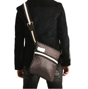 All-match fashion casual knitted man bag shoulder bag messenger bag magazine hot-selling man bag(China (Mainland))